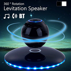 Gifts 3D Magnetic Levitation bluetooth Speaker Floating Wireless Loundspeaker Colors Change LED Night Light Built-in Mic Portable [tag]
