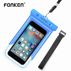 Mobile phones and Accessories FONKEN Luminous Waterproof Case for Phone IPX8 Waterproof Bag Underwater Swimming with Arm Band Phone Case for Seaside Vacation [tag]