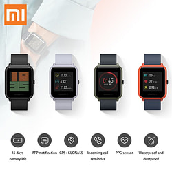 Smart Watches Xiaomi Amazfit Bip Smart Watch Youth Edition Lite 32g ultra-light Baro IP68 Waterproof GPS Tracker Compass Fitness for men women [tag]