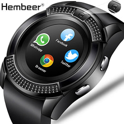 Smart Watches Hembeer Men Women Smart Watch Wrist Watch Reloj Inteligente Support Camera Bluetooth SIM TF Card Smartwatch For Android Phone [tag]
