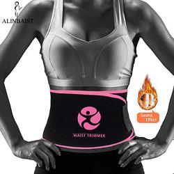 Waist Trainer Premium Waist Trimmer Sweat Belt for Weight Loss Waist Trainer Fat Burner Girdle Slimming Body Shaper Sports Wrap Women and Men [tag]