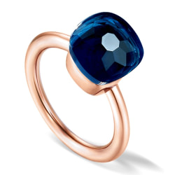 Engagement Rings MetJakt Rose Gold Color Ring,10mm High Quality Candy Style 925 Silver Ring for Women Wedding Party Jewelry [tag]
