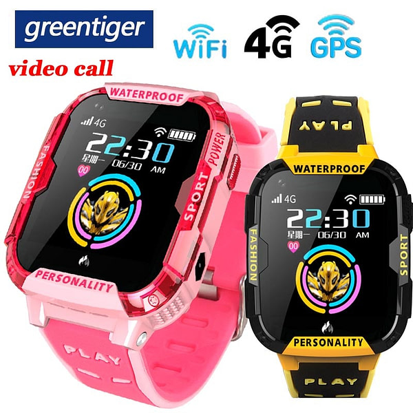 Children's Watches Greentiger GPS Wifi SOS 4G Smart Watch Baby IP67 waterproof Camera position Tracker Kids Smartwatch Boys Girl VS A36E Q90 [tag]