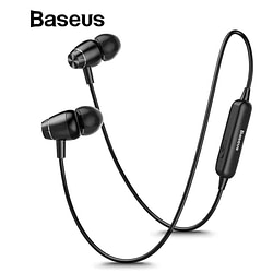 Headphones & Headsets Baseus S09 Bluetooth Earphone Wireless headphone Magnet Earbuds With Microphone Stereo Auriculares Bluetooth Earpiece for Phone [tag]
