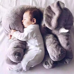 Soft Toys 60cm Giant Elephant Stuffed Animal Toy 5Different Color Cotton Soft Elephants Seat Cushion Plush Baby Pillow Toys For Children [tag]