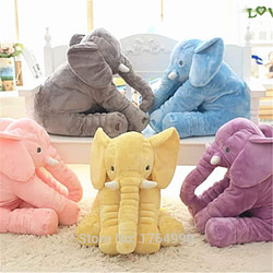 Babies & Moms Kids Gift 60cm Colorful Giant Elephant Stuffed Animal Toy Animal Shape Pillow Baby Toys Home Decor [tag]