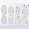 Baby 4Pcs Washable Inserts Liners Print Star Deer Inserts For Baby Cloth Diaper Nappies Reusable Cloth Nappy For Diaper Pocket#259163 [tag]