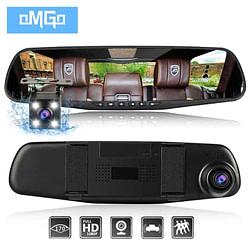 Cars and Automotive dash camera car dvr dual len rear view mirror auto dashcam recorder registrator in car video full hd dash cam Vehicle two camera [tag]