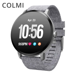 Women's Watches COLMI V11 Smart watch IP67 waterproof Tempered glass Activity Fitness tracker Heart rate monitor BRIM Men women smartwatch [tag]