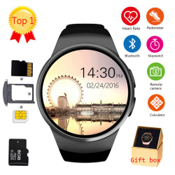 Smart Watches LEMFO KW18 Bluetooth smart watch full screen Support SIM TF Card Smartwatch Phone Heart Rate for apple gear s2 huawei xiaomi [tag]