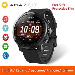Smart Watches Global Version Huami Amazfit Stratos 2 Smart Watch Original Xiaomi Sport GPS 5ATM Water 2.5D GPS Waterproof Swimming Smartwatch [tag]