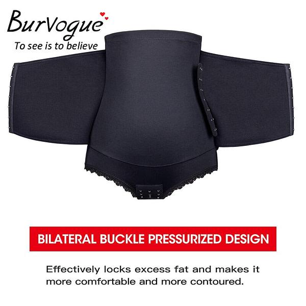Waist Trainer Burvogue Control Panties High Waist Trainer Firm Tummy Control Body Shaper Seamless Underwear Butt Lifter Shaper Plus Size S-3XL [tag]